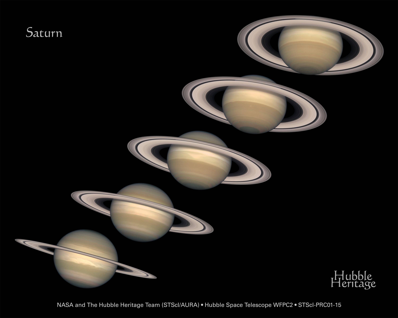 APOD 21. Juli 2013 - Jahreszeiten auf Saturn